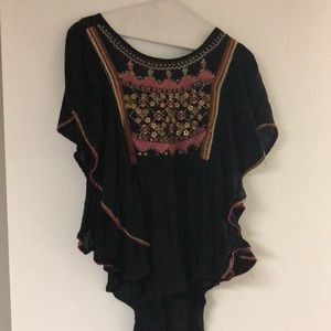 Embroidered black Urban Outfitters Blouse
